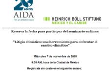 EN AGENDHA | Seminario en línea sobre litigio climático