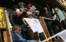 IMAGEN DEL DÍA | Mujeres de la caravana migrante, en huelga de hambre para exigir visas humanitarias