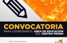 EN AGENDHA | Convocatoria para coordinar el área de Educación del Centro Prodh