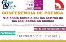 EN AGENDHA   Conferencia de prensa Violencia Feminicida: los rostros de las realidades en México