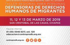 EN AGENDHA | Chiapas: Taller para personas defensoras de migrantes