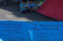 IMAGEN DEL DÍA | Desplazados de Guerrero exigen atención a sus demandas