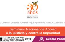 EN AGENDHA   Seminario Nacional de Acceso a la Justicia y contra la Impunidad