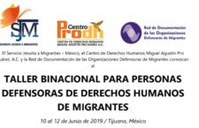 EN AGENDHA | Taller binacional para personas defensoras de migrantes