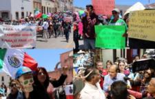 IMAGEN DEL DÍA | Multitudinaria marcha en Zacatecas contra minera Peñasquito
