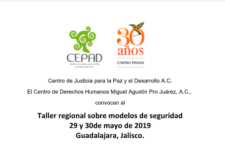 EN AGENDHA | Taller regional sobre modelos de seguridad y retos ante la Guardia Nacional en Guadalajara