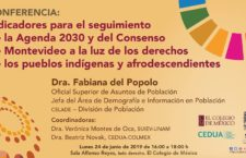 EN AGENDHA | Conferencia: Indicadores seguimiento de Agenda 2030 y Consenso de Montevideo