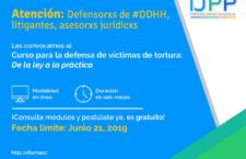 EN AGENDHA   Curso para la defensa de víctimas de tortura