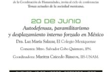 EN AGENDHA | Conferencia: Autodefensas, paramilitarismo y desplazamiento interno forzado
