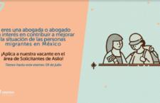 EN AGENDHA | Vacante para abogado/a especialista en asilo en CMDPDH