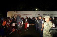 IMAGEN DEL DÍA | Desaloja Guardia Nacional a migrantes en Chiapas