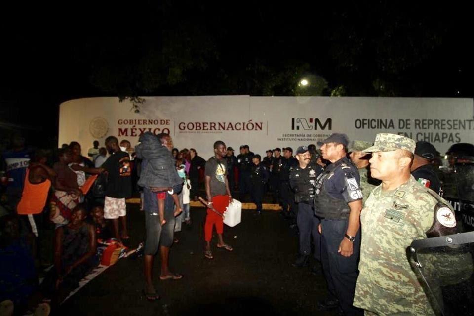 IMAGEN DEL DÍA   Desaloja Guardia Nacional a migrantes en Chiapas