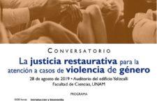 EN AGENDHA   Conversatorio sobre justicia restaurativa en casos de violencia de género