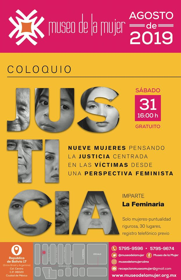 """EN AGENDHA   Coloquio """"La justicia centrada en las víctimas; una perspectiva feminista"""""""