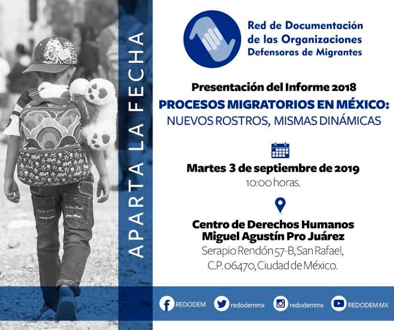 EN AGENDHA | Presentación de informe sobre migración