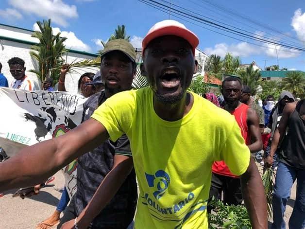 IMAGEN DEL DÍA | Migrantes africanos reinician protestas en Tapachula