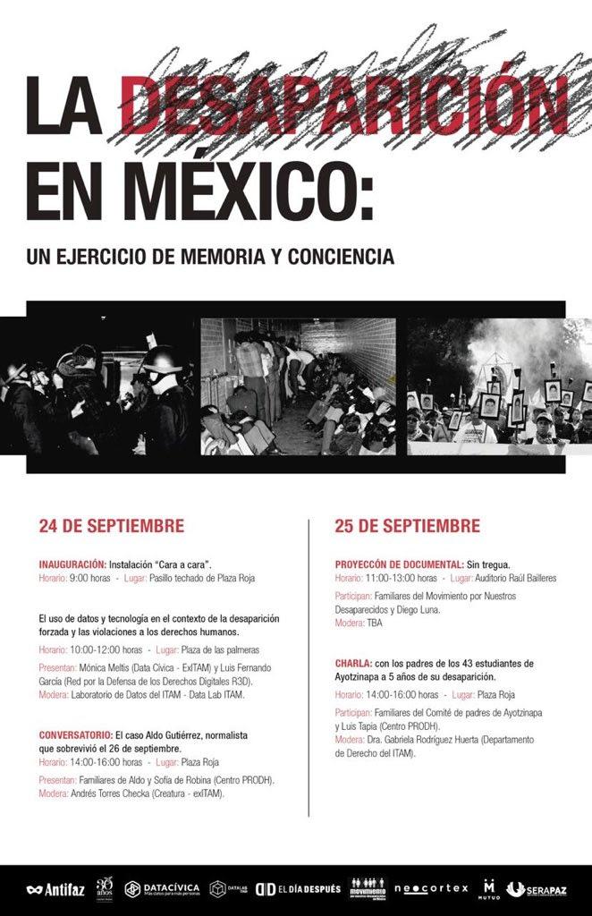 EN AGENDHA    Mesas sobre la desaparición en México