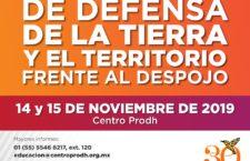 EN AGENDHA |  Taller Nacional de Defensa de la Tierra y Territorio Frente al Despojo