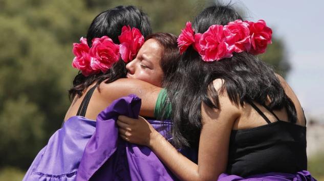 IMAGEN DEL DÍA   Caravana de mujeres contra los feminicidios en Ecatepec