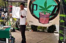 IMAGEN DEL DÍA | Piden legalizar mariguana con campamento afuera del Senado