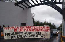 IMAGEN DEL DÍA | Protestan pueblos originarios de Tecámac en aeropuerto Santa Lucía