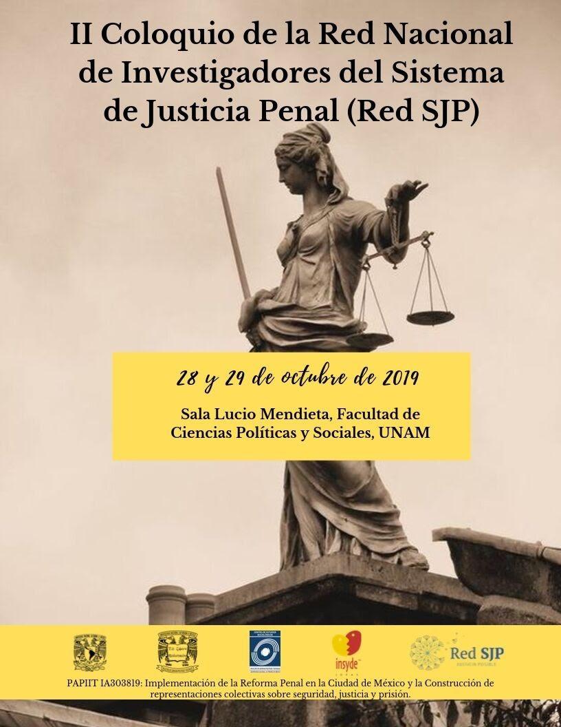 EN AGENDHA |  II Coloquio de la Red Nacional de Investigadores del Sistema de Justicia Penal