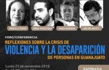 EN AGENDHA | Guanajuato: Foro sobre violencia y desaparición de personas