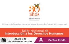 EN AGENDHA | Taller Nacional de Introducción a los Derechos Humanos