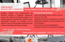 EN AGENDHA | Chiapas: Vacante para abogado/a en migración y refugio