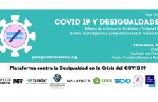 """EN AGENDHA   Foro Virtual """"Covid 19 y desigualdades"""""""