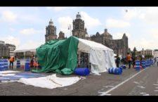 VIDHEO | Levantan plantón en el Zócalo de familiares de personas desaparecidas