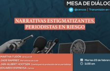 "EN AGENDHA   Mesa ""Narrativas estigmatizantes, periodistas en riesgo"""