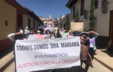 IMAGEN DEL DÍA | #JusticiaparaMariana exigen sus compañeros en Chiapas