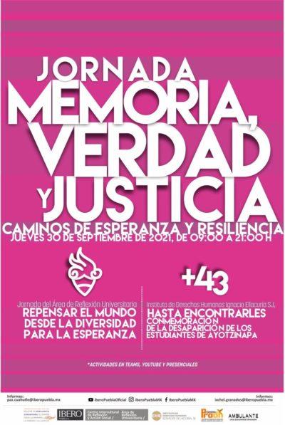 """EN AGENDHA   Jornada """"Memoria, verdad y justicia"""""""