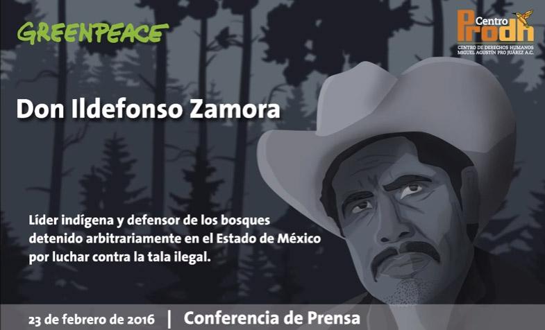 Don Ildefonso Zamora, defensor de los bosques detenido en Estado de México