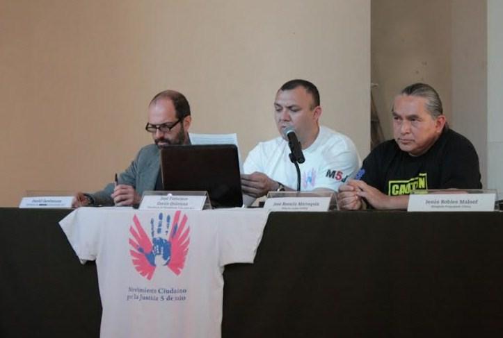 José Francisco García Quintana, Presidente del Movimiento 5 de Junio A.C. Daniel Gershensen, Presidente de Atención al Consumidor A.C. José Rosario Marroquín, Director del Centro Prodh