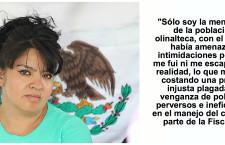 """""""La lucha en Olinalá me está costando una prisión injusta plagada de venganza de políticos perversos"""": Nestora Salgado"""