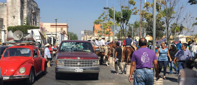 Protestan con cabalgata contra construcción de acueducto en Morelos