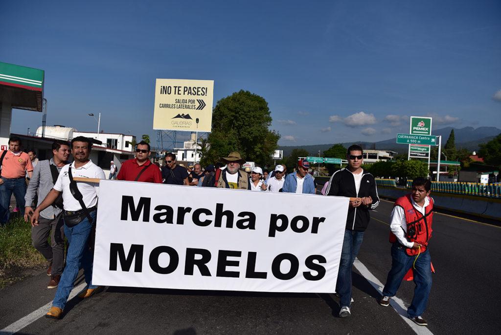 Contra la inseguridad, corrupción y violencia, parte rumbo a la CDMX la Marcha por Morelos