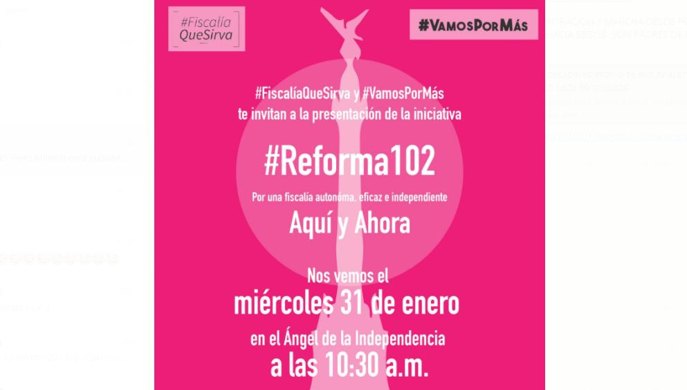 Presentación de la iniciativa #Reforma102