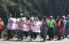 Se manifiestan contra Tren Interurbano en la México-Toluca