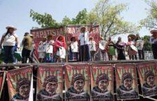 q El Frente de Pueblos en Defensa de la Tierra y el Agua de Morelos, Puebla y Tlaxcala conmemoró el 100 aniversario del asesinato de Emiliano Zapata en Chinameca.