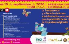 EN AGENDHA   Presentación del libro: Transparencia, derecho a la información y protección a pueblos originarios