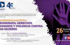EN AGENDHA | Conferencia magistral: Feminismos, derechos humanos y violencia contra las mujeres