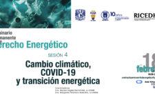 """EN AGENDHA   Seminario Permanente de Derecho Energético """"Cambio climático, COVID-19 y transición energética"""""""