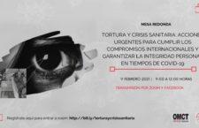 """EN AGENDHA   Mesa redonda """"Tortura y Crisis Sanitaria: Acciones urgentes para cumplir compromisos internacionales"""""""