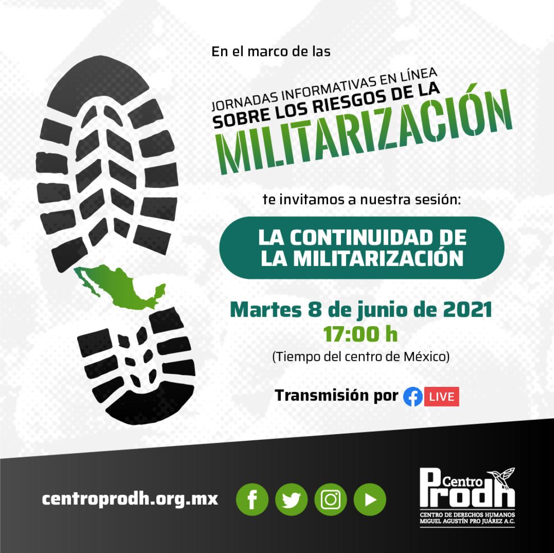 EN AGENDHA   HOY Cuarta jornada informativa sobre los riesgos de la militarización y su continuidad