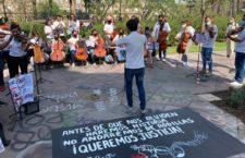 IMAGEN DEL DÍA   Con música exigen justicia para los hermanos González Moreno
