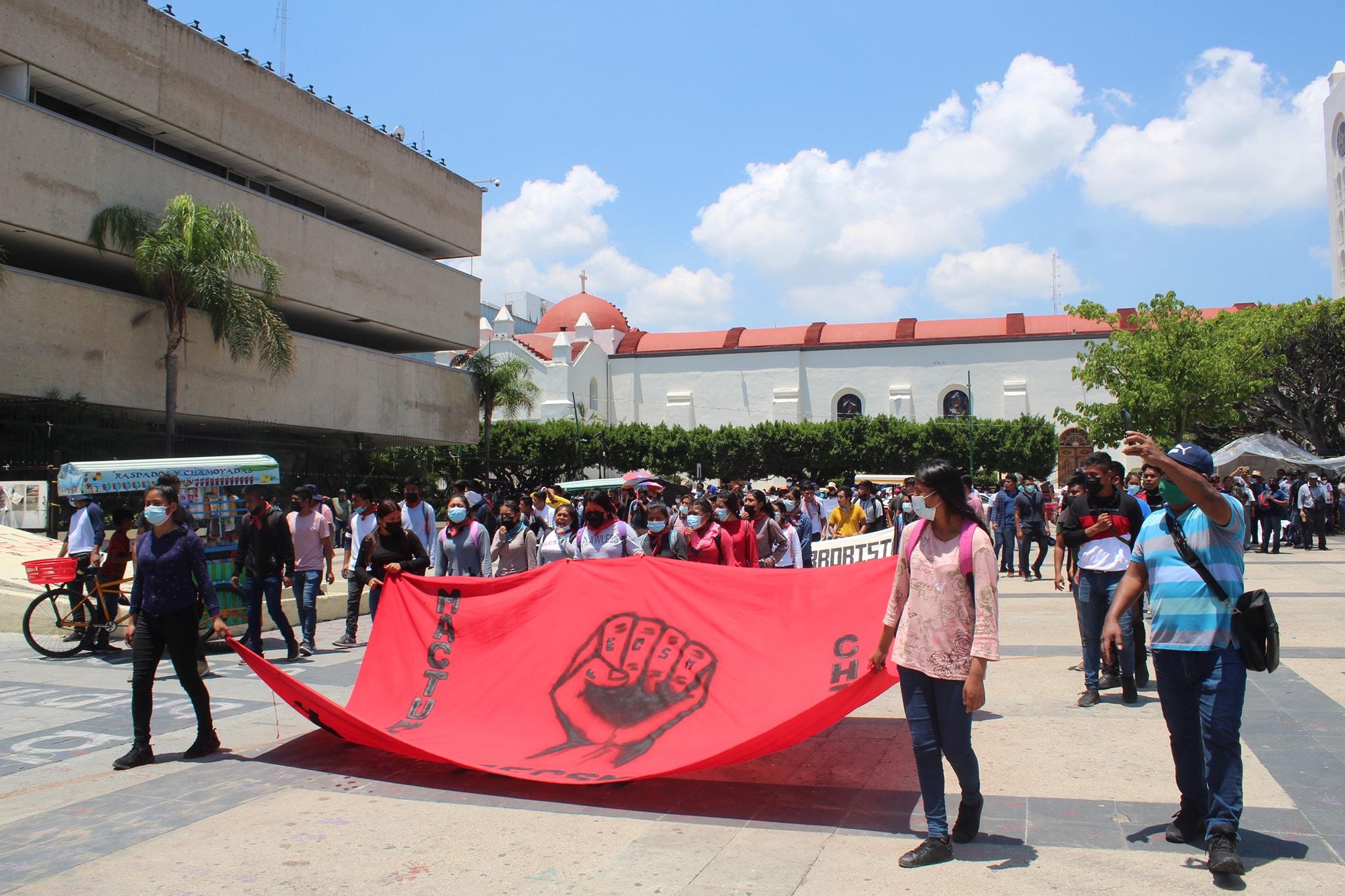 IMAGEN DEL DÍA | Plantón en Chiapas para exigir liberación de estudiantes