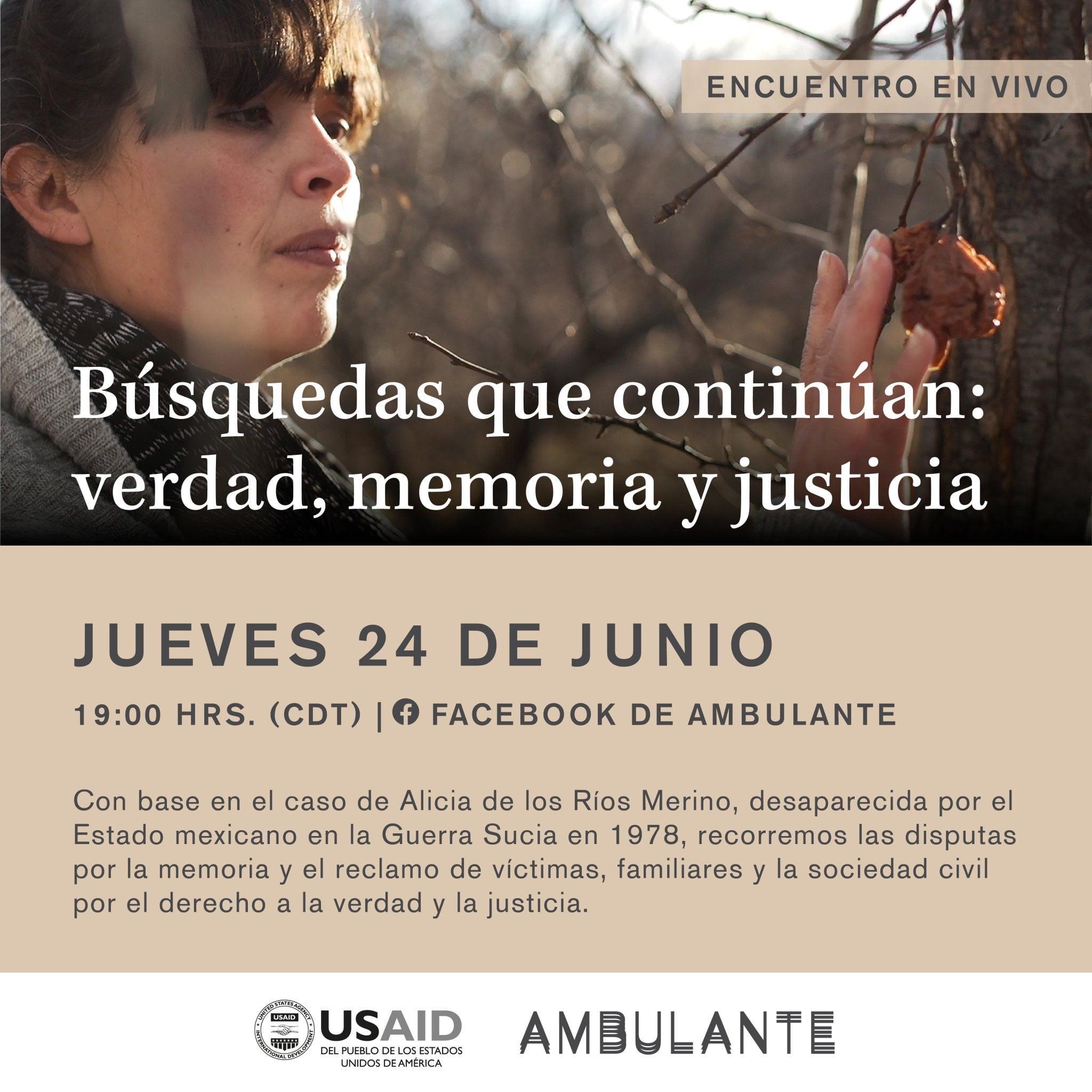 """EN AGENDHA   Encuentro """"Búsquedas que continúan: verdad, memoria y justicia"""""""